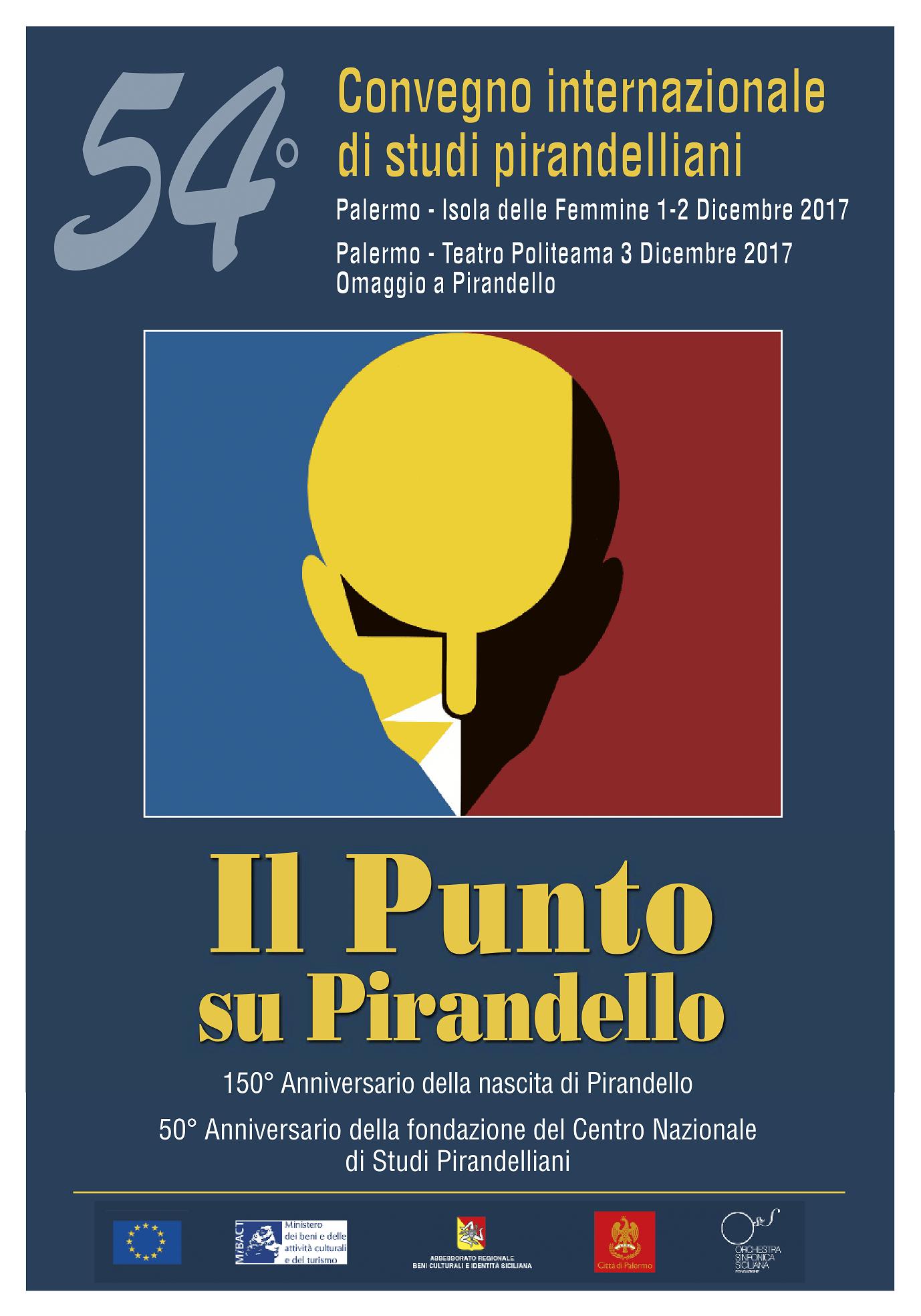 Locandina 54 Convegno Internazionale di Studi Pirandelliani